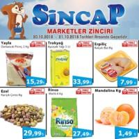Sincap Marketler Zinciri 20 - 21 Ekim 2018 Fırsat Ürünleri Sayfa 1