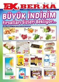 Grup Ber-ka Market 25 - 31 Ekim 2018 Kampanya Broşürü! Sayfa 1