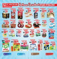 Çakmak Market 30 Eylül - 07 Ekim 2018 Kampanya Broşürü! Sayfa 1