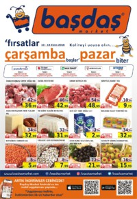 Başdaş Market 10 - 14 Ekim 2018 Kampanya Broşürü! Sayfa 1