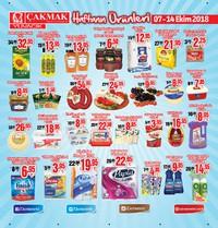 Çakmak Market 07 - 14 Ekim 2018 Kampanya Broşürü! Sayfa 1