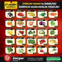 Emirgan Market 27 - 28 Ekim 2018 Kampanya Broşürü! Sayfa 1