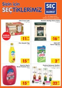 Seç Market 21 - 27 Kasım 2018 Kampanya Broşürü! Sayfa 1
