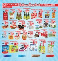 Çakmak Market 11 - 18 Kasım 2018 Fırsat Ürünleri Sayfa 1