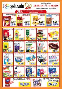 Şehzade Market 28 Kasım - 11 Aralık 2018 Kampanya Broşürü! Sayfa 1