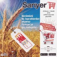 Sarıyer Market 23 Kasım - 05 Aralık 2018 Kampanya Broşürü! Sayfa 1