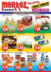 Merkez Market 30 Kasım - 03 Aralık 2018 İndirim Broşürü! Sayfa 1