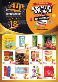 Alp Market 08 - 11 Kasım 2018 Kampanya Broşürü! Sayfa 1