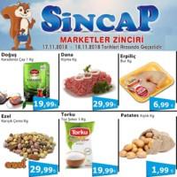 Sincap Marketler Zinciri 17 - 18 Kasım 2018 Fırsat Ürünleri Sayfa 1