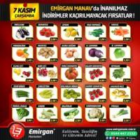 Emirgan Market 07 Kasım 2018 Manav Reyonu İndirimleri Sayfa 1