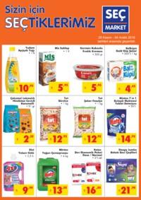 Seç Market 28 Kasım - 04 Aralık 2018 Kampanya Broşürü! Sayfa 1