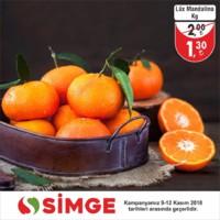 Simge 09 - 12 Kasım 2018 Manav Reyonu İndirimleri Sayfa 1