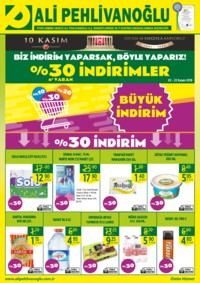 Ali Pehlivanoğlu 02 - 22 Kasım 2018 Kampanya Broşürü, %30'a Varan İndirimler Sayfa 1