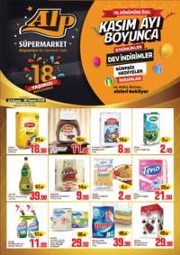 Alp Market 22 - 30 Kasım 2018 İndirim Broşürü! Sayfa 1