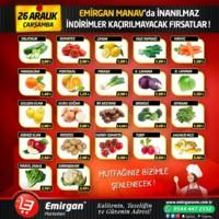 Emirgan Market 26 Aralık 2018 Manav Reyonu İndirimleri Sayfa 1