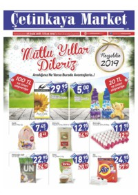 Çetinkaya Market 28 Aralık 2018 - 06 Ocak 2019 Kampanya Broşürü! Sayfa 1