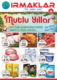 Irmaklar Market 27 - 31 Aralık 2018 Kampanya Broşürü! Sayfa 1