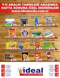 İdeal Market Ordu 07 - 11 Aralık 2018 Kampanya Broşürü! Sayfa 1