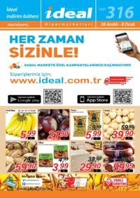İdeal Hipermarket 28 Aralık 2018 - 08 Ocak 2019 Kampanya Broşürü! Sayfa 1