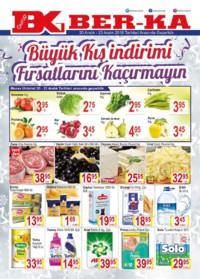 Grup Ber-ka Market 20 - 23 Aralık 2018 Kampanya Broşürü! Sayfa 1 Önizlemesi