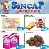 Sincap Marketler Zinciri 01 - 02 Aralık 2018 Fırsat Ürünleri Sayfa 1