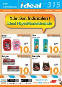 İdeal Hipermarket 14 - 25 Aralık 2018 Kampanya Broşürü! Sayfa 1