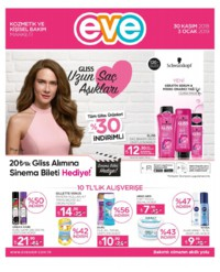 Eve Kozmetik 30 Kasım 2018 - 03 Ocak 2019 Kampanya Broşürü! Sayfa 1