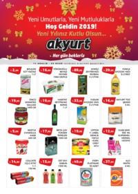 Akyurt Süpermarket 14 Aralık 2018 - 03 Ocak 2019 Kampanya Broşürü! Sayfa 1