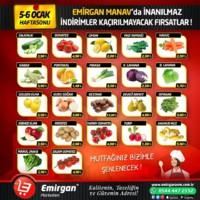 Emirgan Market 05 - 06 Ocak 2019 Manav Reyon İndirimi Sayfa 1