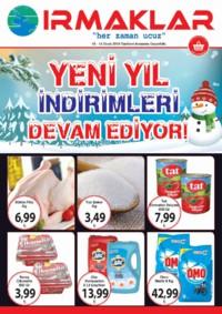 Irmaklar Market 10 - 13 Ocak 2019 Kampanya Broşürü! Sayfa 1