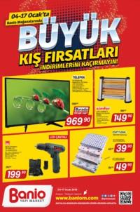 Banio Yapı Market 04 - 17 Ocak 2019 Kampanya Broşürü! Sayfa 1