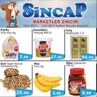 Sincap Marketler Zinciri 12 - 13 Ocak 2019 Fırsat Ürünleri Sayfa 1