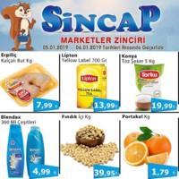 Sincap Marketler Zinciri 05 - 06 Ocak 2019 Hafta Sonu İndirimleri Sayfa 1