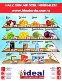 İdeal Market Ordu 16 Ocak 2019 Halk Günü Kampanyası Sayfa 1